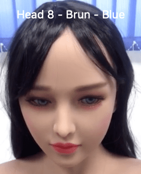 Head 8 Brunette – Blue Eyes